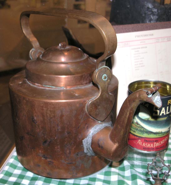 Copper kettle, gift of Larry Matfay